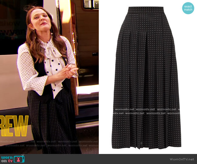 Tana Culottes by Max Mara worn by Drew Barrymore  on The Drew Barrymore Show