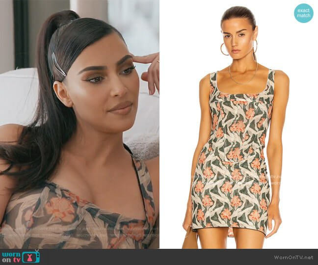 Campbell Corset by Miaou worn by Kim Kardashian  on Keeping Up with the Kardashians