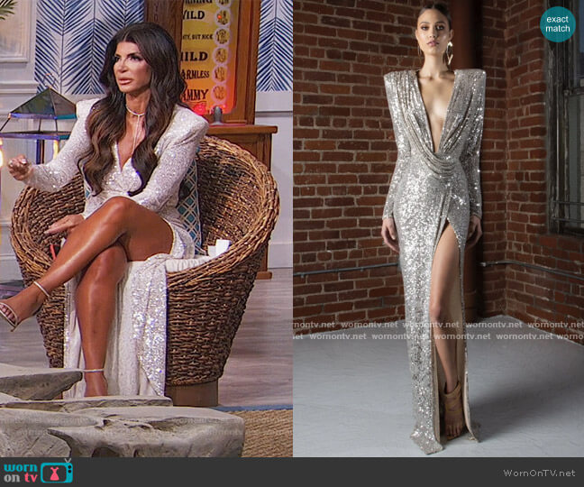 Harper 24 by Michael Costello worn by Teresa Giudice  on The Real Housewives of New Jersey
