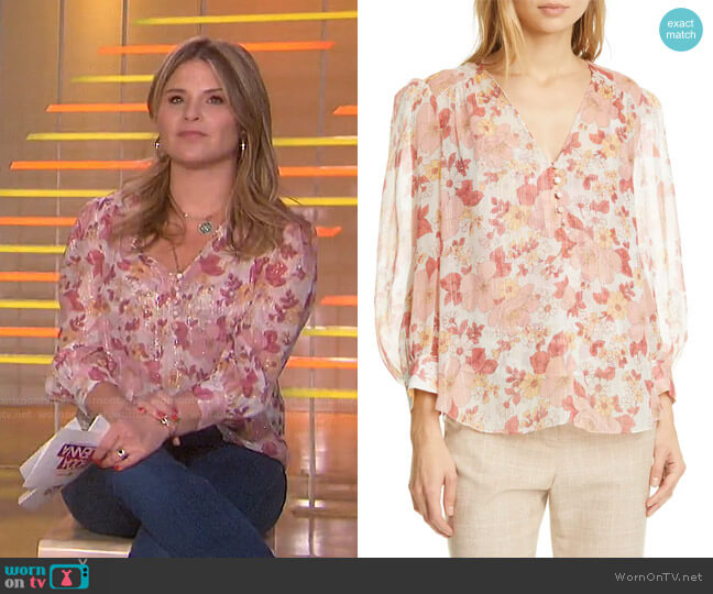 Milan Floral Top by Veronica Beard worn by Jenna Bush Hager  on Today