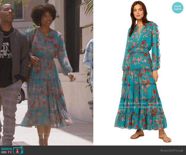 Hadeya Dress by Misa worn by Grace James (Karimah Westbrook) on All American