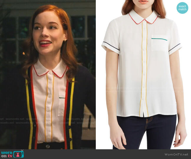 Primary Pick Blouse by Modcloth worn by Zoey Clarke (Jane Levy) on Zoeys Extraordinary Playlist