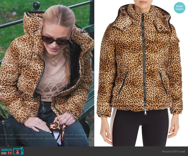 Bady Leopard-Print Down Coat by Moncler worn by Leah McSweeney  on The Real Housewives of New York City