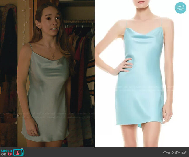Nelle Fitted Minidress by Alice + Olivia worn by Angelina Meyer (Holly Taylor ) on Manifest