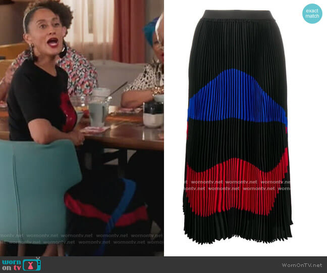 Pleated Colourblock Skirt by N.21 worn by Rainbow Johnson (Tracee Ellis Ross) on Blackish