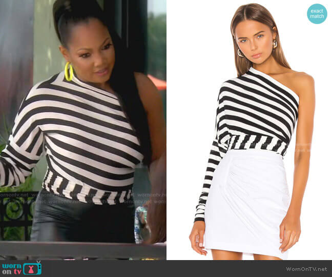 All In One Bodysuit by Norma Kamali worn by Garcelle Beauvais  on The Real Housewives of Beverly Hills