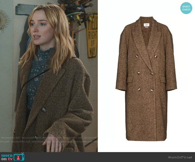 Ojima Coat by Isabel Marant Etoile worn by Clare O'Brien (Phoebe Dynevor) on Younger