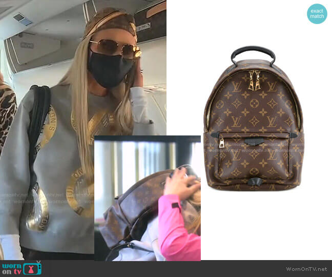 Palm Springs MM backpack by Louis Vuitton worn by Dorit Kemsley  on The Real Housewives of Beverly Hills