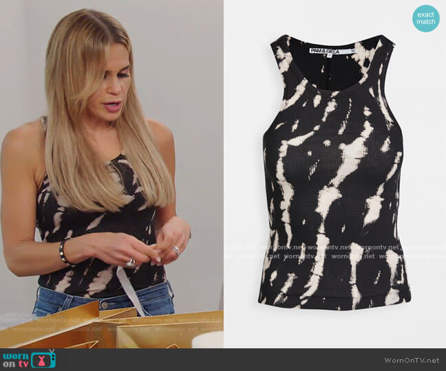 X20 Tie Dye Skinny Rib Tank by Pam and gela worn by Jackie Goldschneider  on The Real Housewives of New Jersey