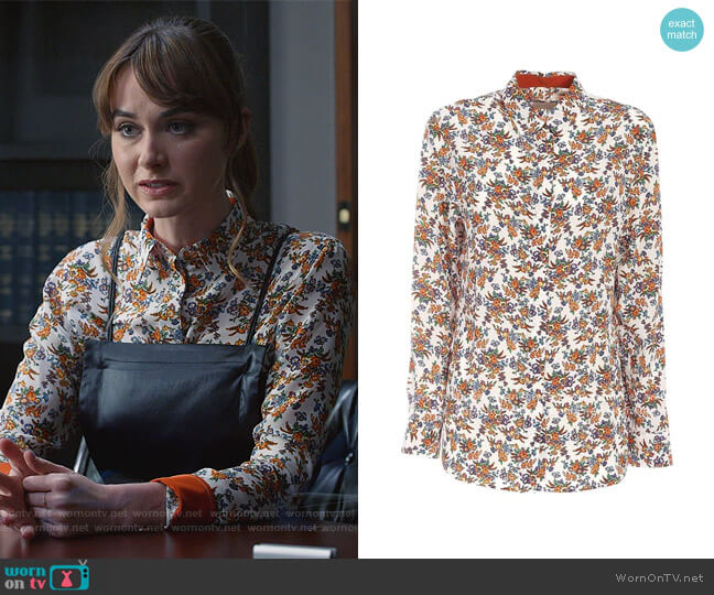 Floral Print Shirt by Paul Smith worn by Samantha Powell (Audrey Corsa) on All Rise