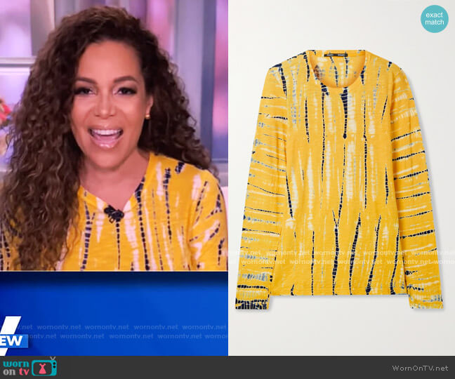 Tie-Dye Long-Sleeve Cotton Tee by Proenza Schouler worn by Sunny Hostin  on The View