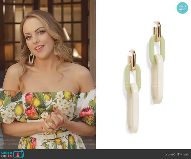 Nesso Earrings by Rachel Comey worn by Fallon Carrington (Elizabeth Gillies) on Dynasty