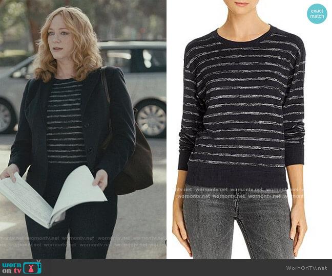 Avryl Stripe Crewneck Sweater by Rag & Bone worn by Beth Boland (Christina Hendricks) on Good Girls