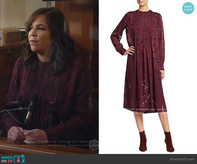 Rubie Floral Burnout Dress by Rag and Bone worn by Sara Castillo (Lindsay Mendez) on All Rise
