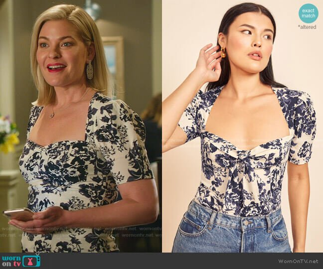 Crescent Top by Reformation worn by Stephanie Borden (Kylee Evans) on Good Witch