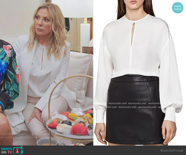 Alana Bishop-Sleeve Blouse by Reiss worn by Ramona Singer  on The Real Housewives of New York City