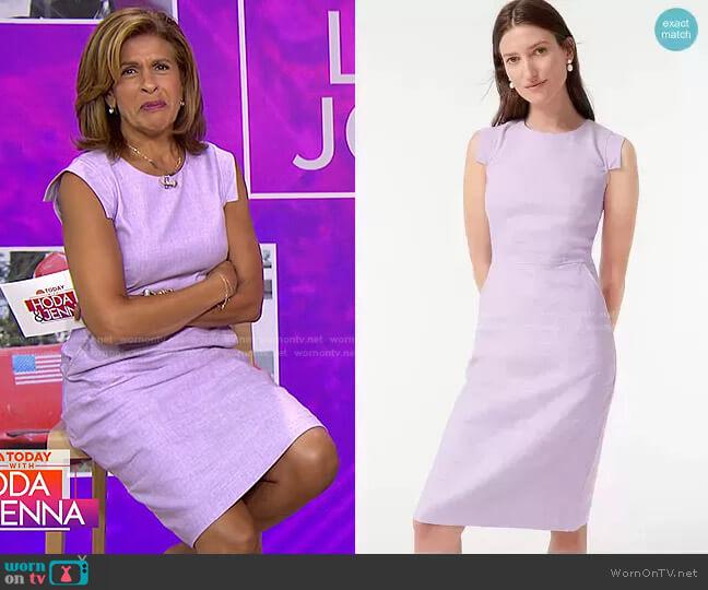 Resume Dress in Stretch Linen by J. Crew worn by Hoda Kotb  on Today