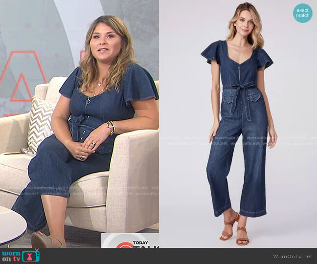 Ria Jumpsuit by Paige worn by Jenna Bush Hager  on Today