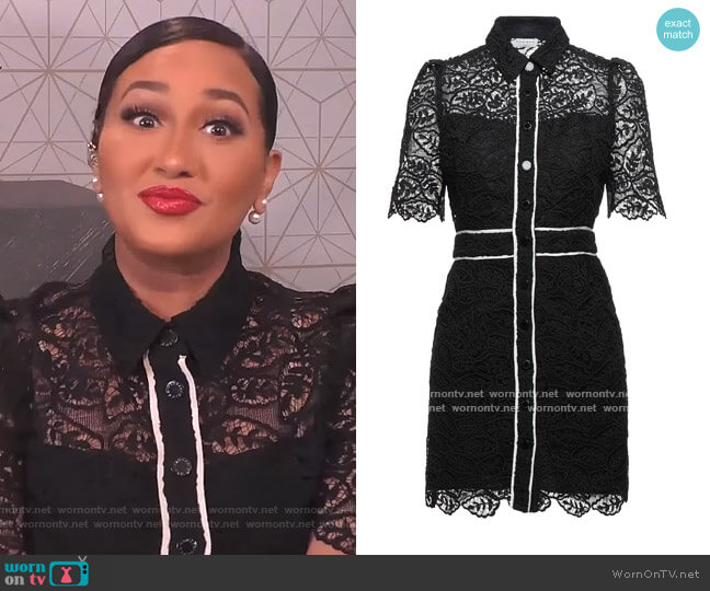 Lace Dress by Sandro worn by Adrienne Houghton  on The Real