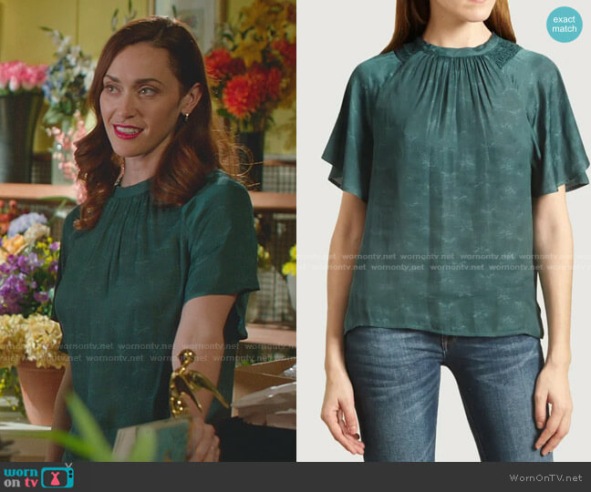 Elvezia Blouse by Sessun worn by Abigail Pershing (Sarah Power) on Good Witch