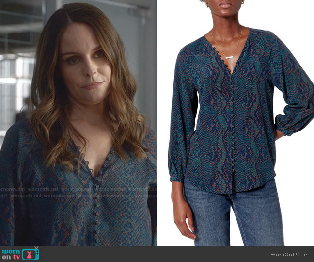 Shariana Top by Joie worn by Isabella Colón (Yara Martinez) on Bull
