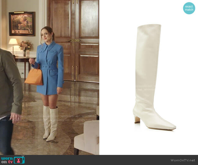 Wally Leather Boots by Staud worn by Fallon Carrington (Elizabeth Gillies) on Dynasty
