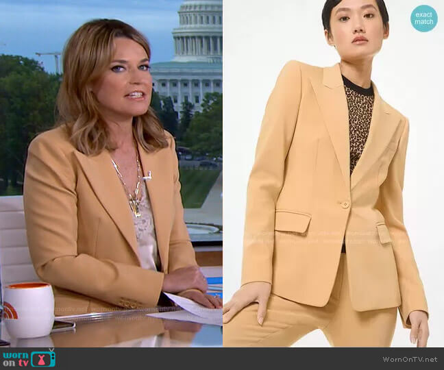 Stretch Pebble Crepe Blazer by Michael Kors worn by Savannah Guthrie  on Today