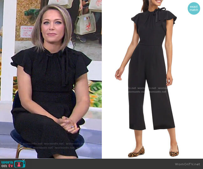 Sybil Flutter Sleeve Jumpsuit by Gal Meets Glam Collection worn by Dylan Dreyer  on Today