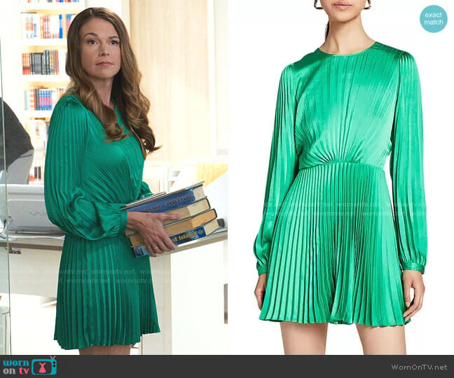 Tavi Pleated Mini Dress by A.L.C. worn by Liza Miller (Sutton Foster) on Younger