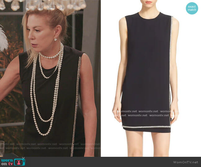 Burford Double Layer Embellished Dress by Ted Baker worn by Ramona Singer  on The Real Housewives of New York City