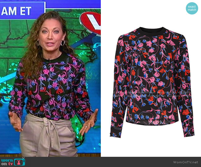 Tulip Floral Top by Thakoon Collective worn by Ginger Zee  on Good Morning America