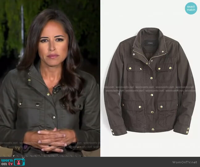 The Downtown Field Jacket by J.Crew worn by Kaylee Hartung on GMA