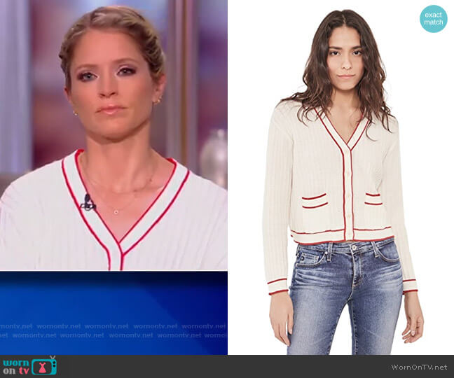 The Athletic Cardigan The Great worn by Sara Haines  on The View