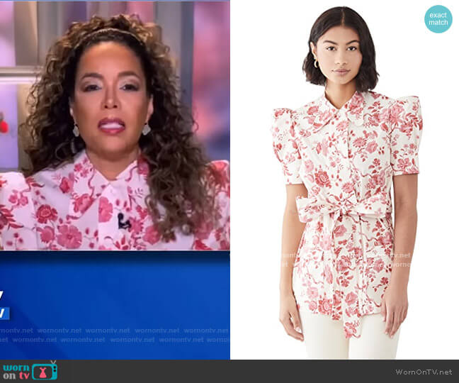 Liberty Poplin Top by The Vampires Wife worn by Sunny Hostin  on The View