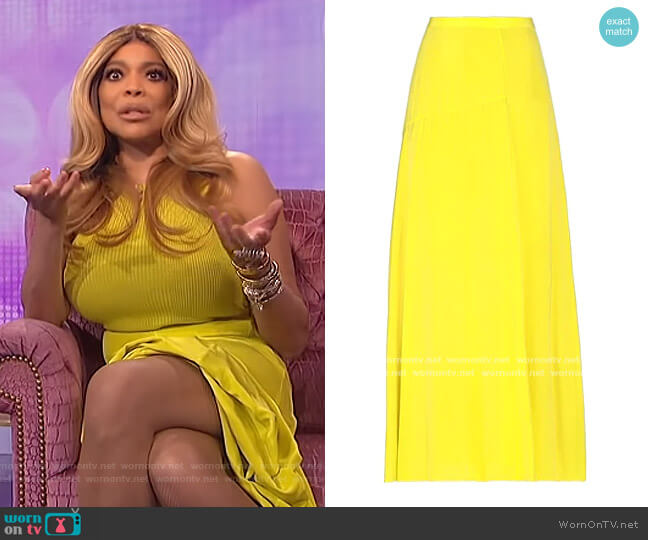 Maxi Skirts by Theory worn by Wendy Williams  on The Wendy Williams Show