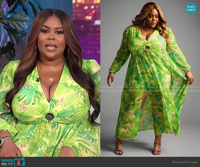 Trendy Plus Size 2-Pc. Dress & Shorts Set by Nina Parker worn by Nina Parker  on E! News