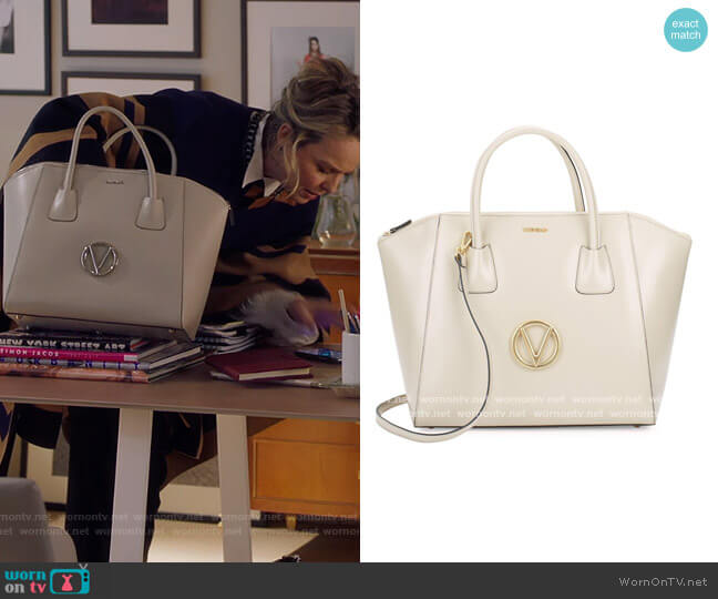 Gigi Leather Tote by Valentino by Mario Valentino worn by Jacqueline (Melora Hardin) on The Bold Type