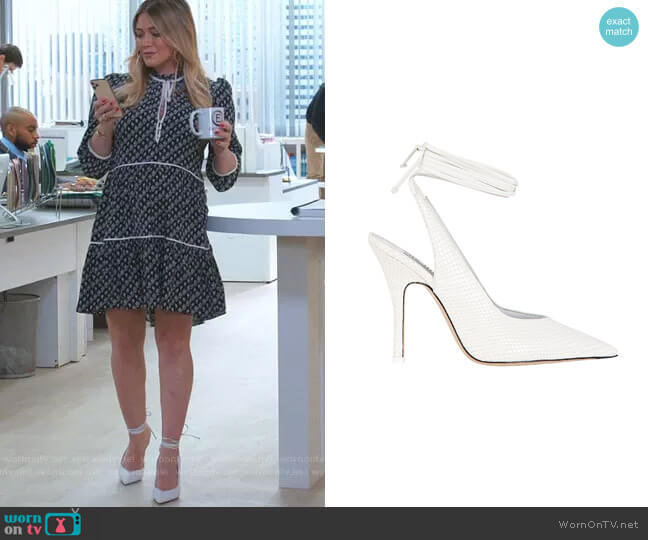 Venus Pumps by Attico worn by Kelsey Peters (Hilary Duff) on Younger