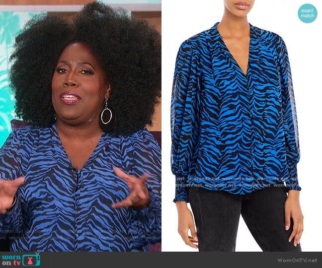 Zebra Print Blouse by Vince Camuto worn by Sheryl Underwood  on The Talk
