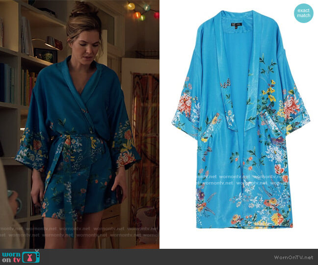 Floral Print Duster Cardigan by Zara worn by Sutton (Meghann Fahy) on The Bold Type