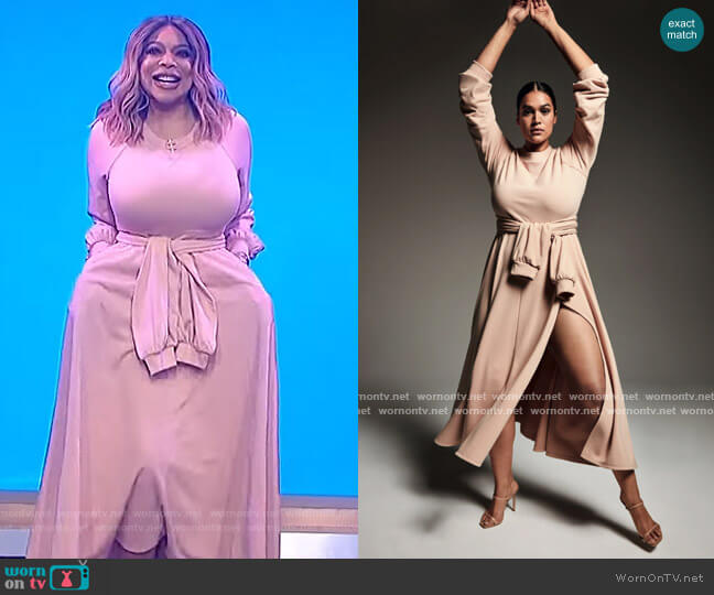 Maxi Dress by Zerina Akers for Bar lll worn by Wendy Williams  on The Wendy Williams Show