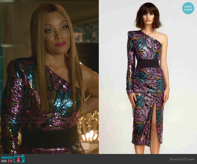 One For The Money Dress by Zhivago worn by Dominique Deveraux (Michael Michele) on Dynasty