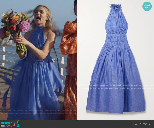 Luminous Halter Gown by Zimmermann worn by Amy Quinn (Lindsey Gort) on All Rise