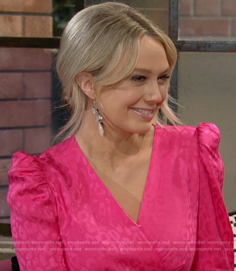 Abby's pink leopard dress on The Young and the Restless