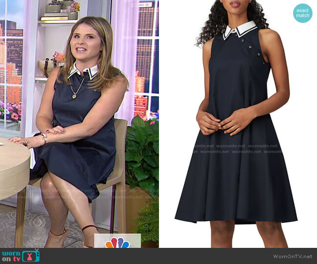 Sailor Dress by Adeam worn by Jenna Bush Hager  on Today