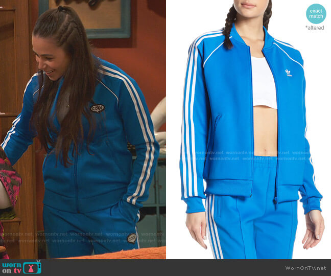 SST Track Jacket by Adidas worn by Tess O'Malley (Sky Katz) on Ravens Home