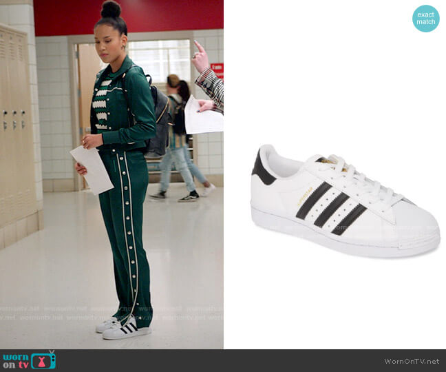 Adidas Superstar Sneakers worn by Gina (Sofia Wylie) on High School Musical The Musical The Series