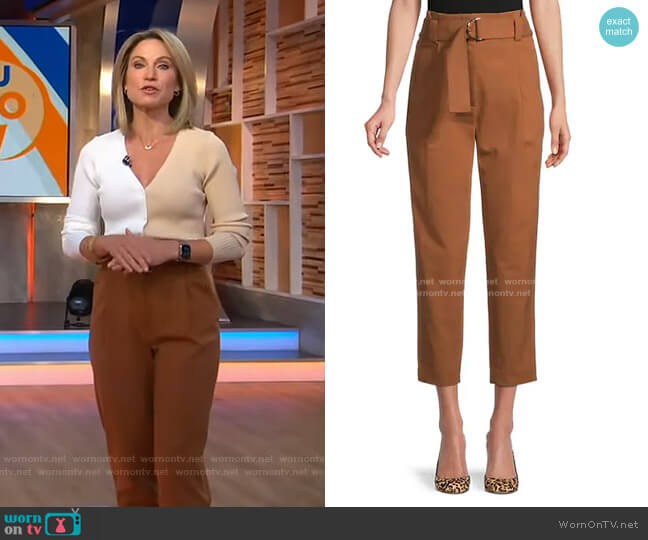 Diego Belted Cropped Pants by A.L.C. worn by Amy Robach  on Good Morning America