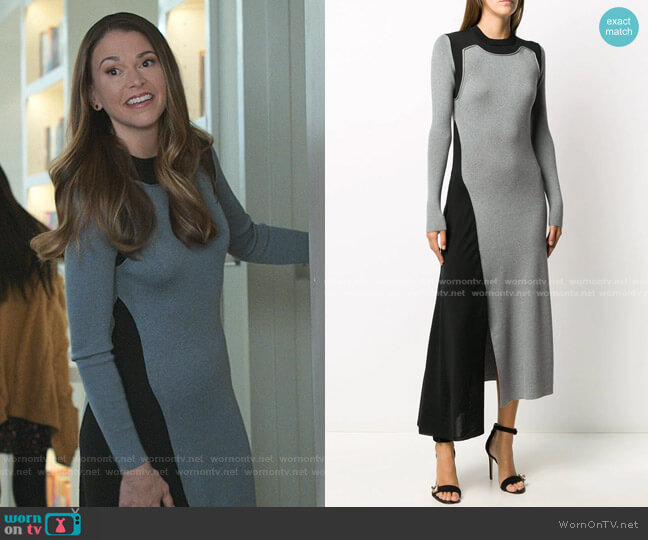 Colour-Block Ribbed-Knit Dress by Alexander McQueen worn by Liza Miller (Sutton Foster) on Younger
