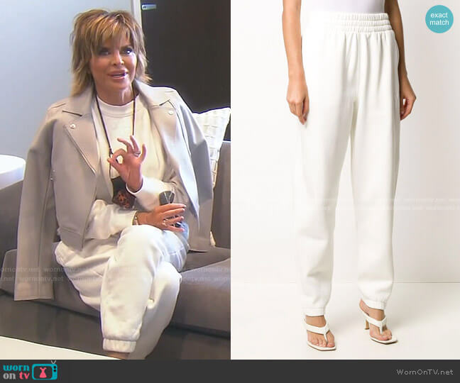 Logo Detail Sweatpants by alexanderwang.t worn by Lisa Rinna  on The Real Housewives of Beverly Hills